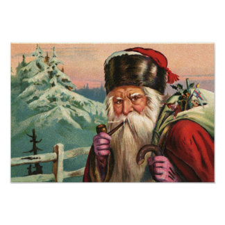 Poster alpino de Santa