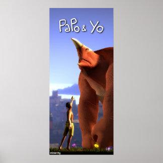 Poster alto de Papo y de Yo