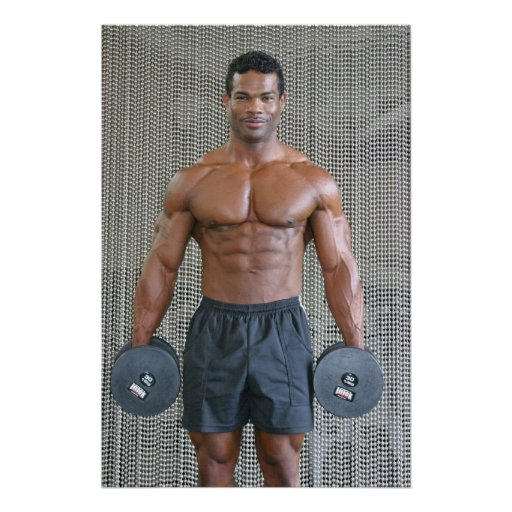 Poster, AM021, Anthony Marmon with Weights Poster