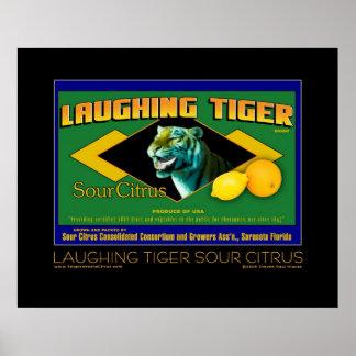 Poster amargo de risa de la bella arte de la fruta