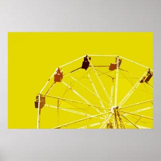 Poster amarillo de la noria