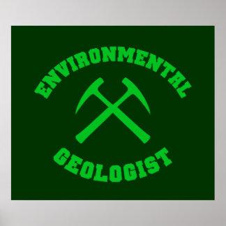 Poster ambiental del geólogo