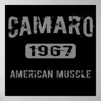 Poster americano 1967 del músculo de Camaro
