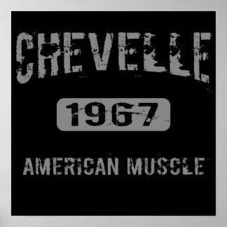 Poster americano 1967 del músculo de Chevelle