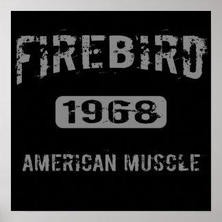 Poster americano 1968 del músculo de Firebird