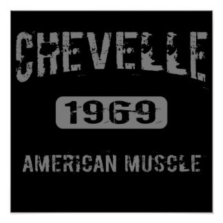 Poster americano 1969 del músculo de Chevelle