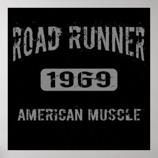 Poster americano 1969 del músculo de los correcami