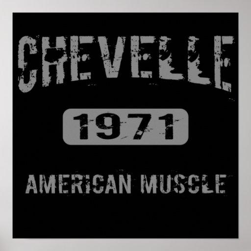 Poster americano 1971 del músculo de Chevelle Póster