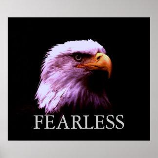 Poster americano audaz de motivación de Eagle calv