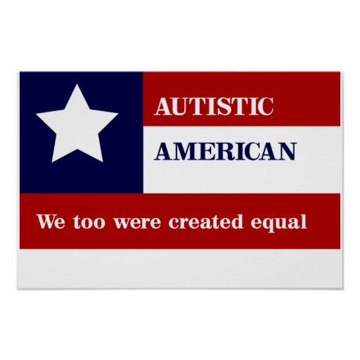 Poster americano autístico igual