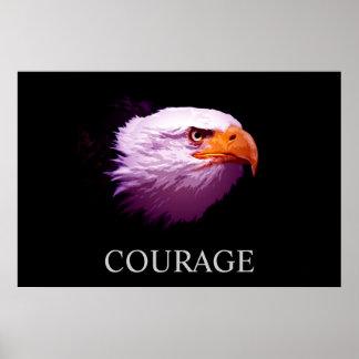 Poster americano de Eagle calvo del valor de motiv
