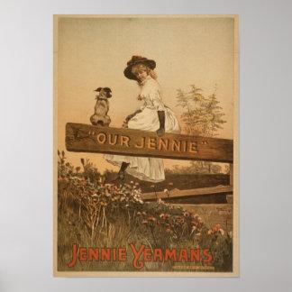 Poster americano de Jennie Yeamans del vintage