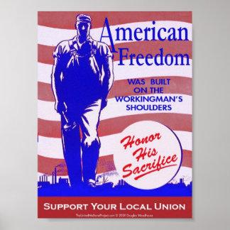 Poster americano de la libertad de la póster