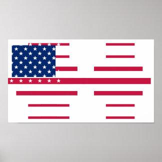 Poster americano de la pared del sitio de