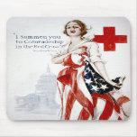 Poster americano de la Primera Guerra Mundial del  Alfombrillas De Raton
