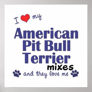 Poster americano de las mezclas de Terrier de pitb