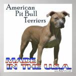 Poster americano de Terrier (APBT) de pitbull