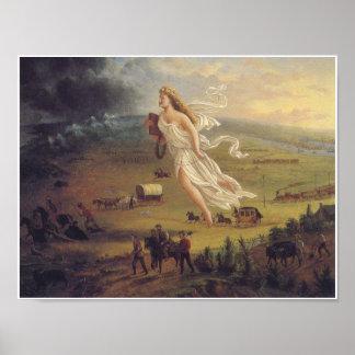 Poster americano del arte del vintage del progreso