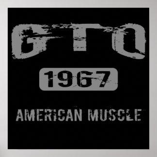 Poster americano del músculo de 1967 GTO
