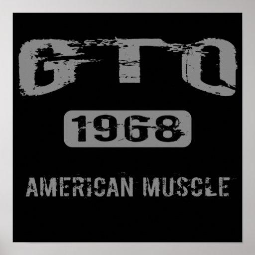 Poster americano del músculo de 1968 GTO