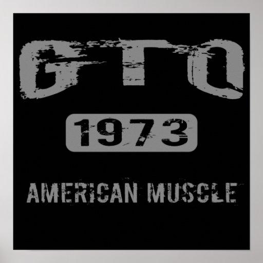 Poster americano del músculo de 1973 GTO