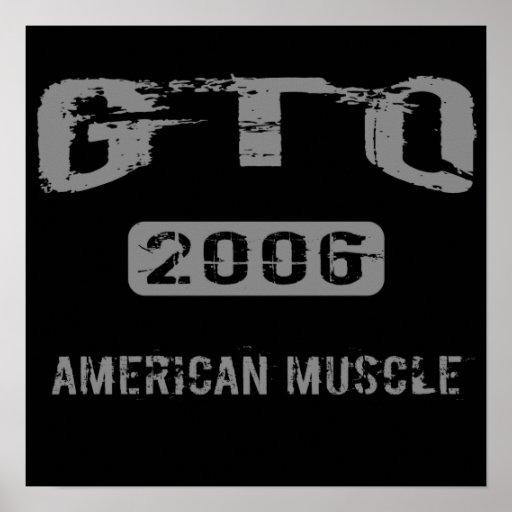 Poster americano del músculo de 2006 GTO