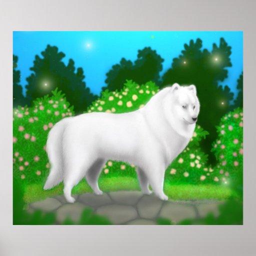 Poster americano del perro esquimal