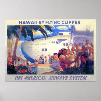 Poster americano del viaje de la cacerola del vint