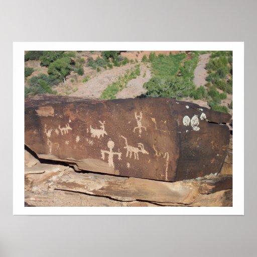 Poster americano histórico #2 de los petroglifos
