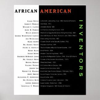 Poster americano negro II de los inventores