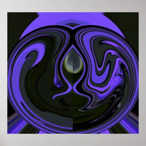 Poster Amethyst abstracto del Psychedelia 4