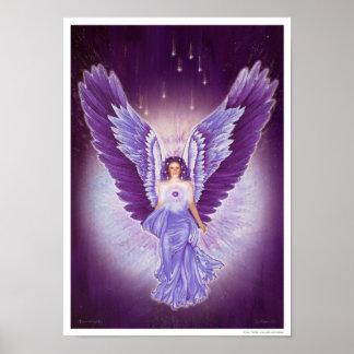 Poster Amethyst violeta glorioso del ángel
