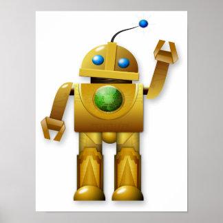 Poster amistoso del robot