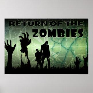 Poster amonestador apenado apocalipsis del zombi T