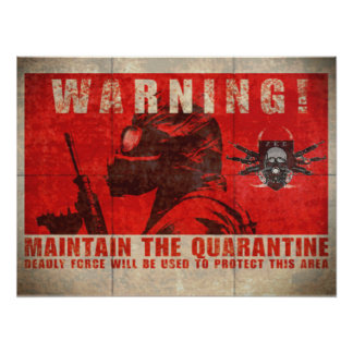 Poster amonestador de la cuarentena de ZKE