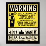 Poster amonestador del gobierno