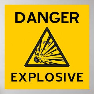 Poster amonestador explosivo