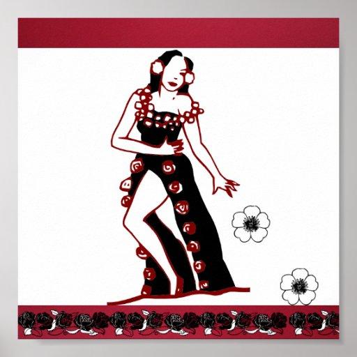 Poster-Amor el bailarín del Arte-Flamenco Póster