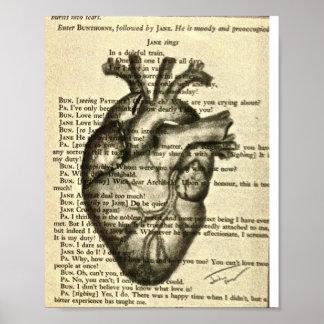 poster anatómico del corazón