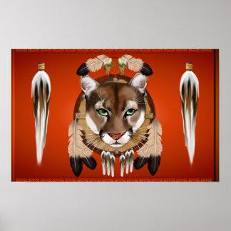 Poster ancho del escudo del puma