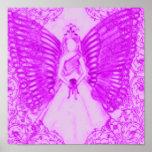 Poster angelical sofisticado de la púrpura del dul