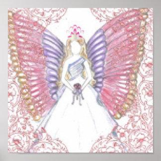 Poster angelical sofisticado de los pasteles del d