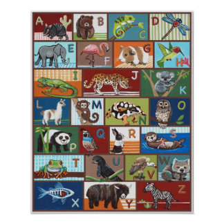 Poster animal de ABC