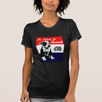 Poster animal de la amabilidad del vintage t shirts