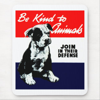 Poster animal de la amabilidad del vintage mouse pads