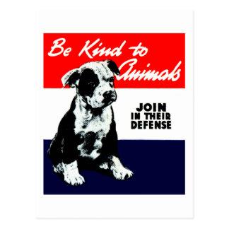 Poster animal de la amabilidad del vintage tarjetas postales