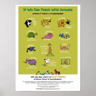 """Poster animal Fuerza-Libre del entrenamiento (18"""""""
