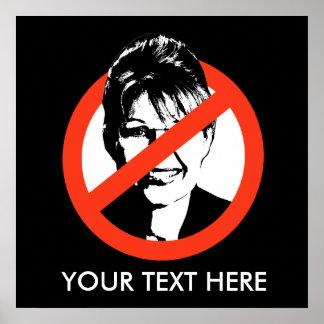 Poster Anti-Palin/texto de encargo