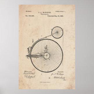 Poster antiguo de la impresión de la patente de la