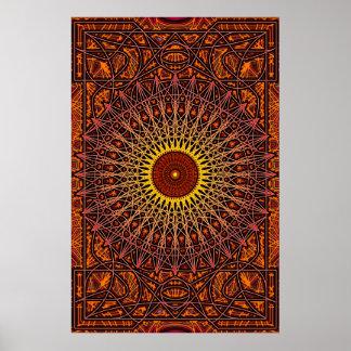 Poster antiguo del arte de la mandala de las